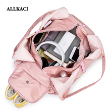ALLKACI Large Capacity Travel Bag Fashion Sports Gym Multifunctional Shoulder Hand Waterproof Duffle Weekend 48