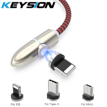 KEYSION Magnetic USB Cable For iPhone XS MAX XR 8 7 6 Type C Samsung A50 A40 Micro Huawei Xiaomi
