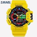 LED кварцевые наручные часы Роскошные SMAEL крутые мужские часы большие цифровые часы Военные Army1436 водонепроницаемые спортивные часы для мужч...