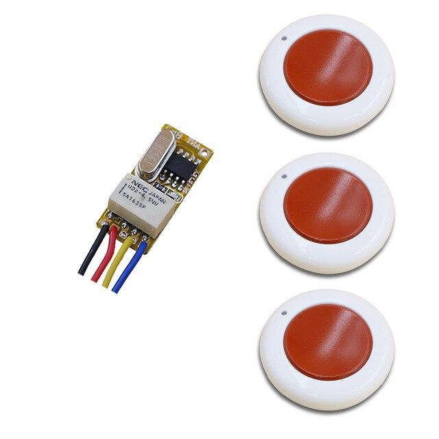 DC3.7V 4.5V 5V 6V 9V 12V Mini Wireless Remote Control Switch 1Channal Intelligent Family System Transmitter with Receiver