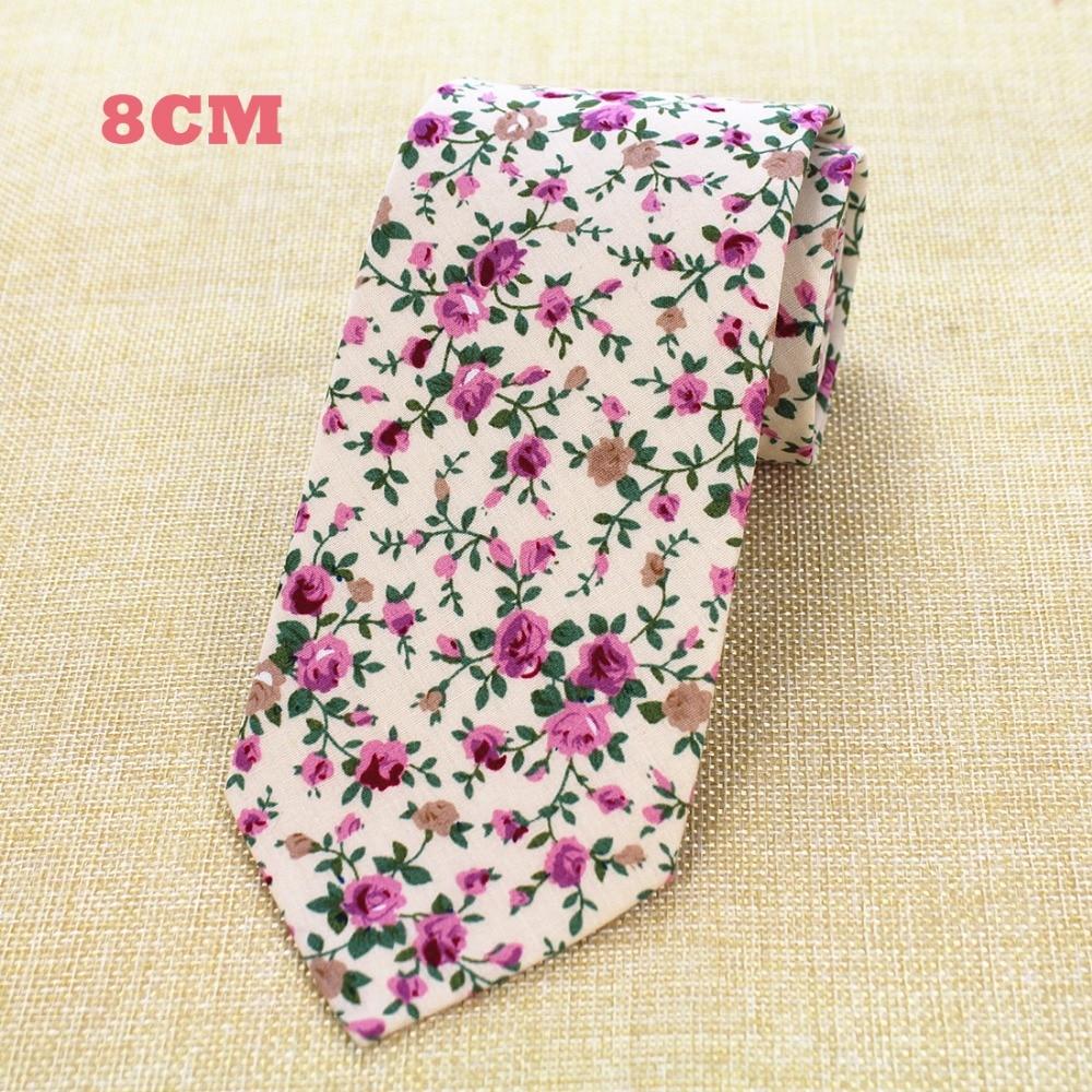 RBOCOTT New Design 8 cm Baumwolle Krawatten Für Männer Paisley - Bekleidungszubehör - Foto 4