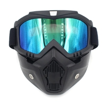 Safety Goggles Face Mask Windproof Dustproof UV protection Eyewear Mask Removable Bicycle Motorcycle Tactical Goggles Masks