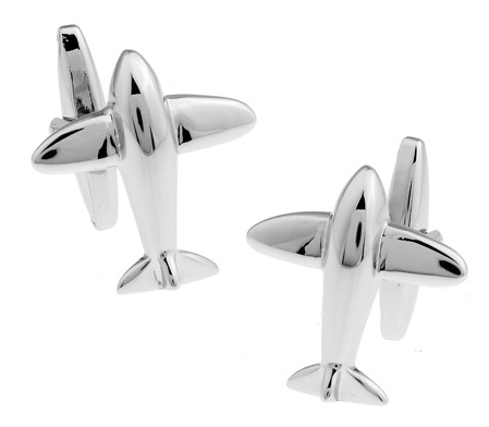 Promotion!!  Plane Cuff Button Silver Colour Fashion Silver Airplane Style Copper Material Cufflinks abotoadura