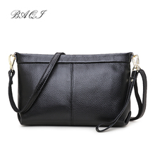 BAQI Brand Women Handbag Shoulder Bag Genuine Leather Cowhide 2019 Fashion Lady Evening Crossbody Messenger Girls