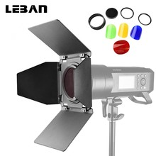Godox BD-08 drzwi stodoły z siatką o strukturze plastra miodu i 4 filtry kolorów żeli dla Godox AD400Pro zewnętrzna lampa błyskowa światło stroboskopowe tanie tanio