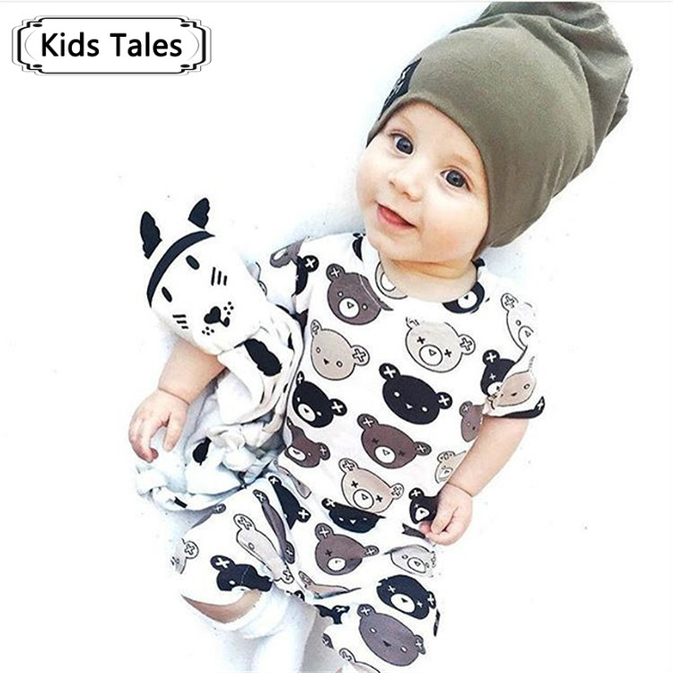 2017 Children's Clothing Baby Overall Short Sleeve Cartoon Bear Jumpsuit Overalls Newborn Rompers Baby Boy Girl Clothes SR237 cotton baby rompers set newborn clothes baby clothing boys girls cartoon jumpsuits long sleeve overalls coveralls autumn winter