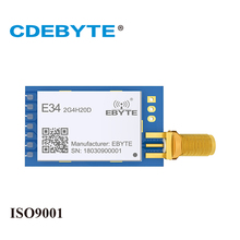 2Pc/Lot CDEBYTE 2.4GHz nRF24L01P 2500m Wireless Transmitter rf Module UART Breadboard UART Receiver 2.4G Module  цена 2017