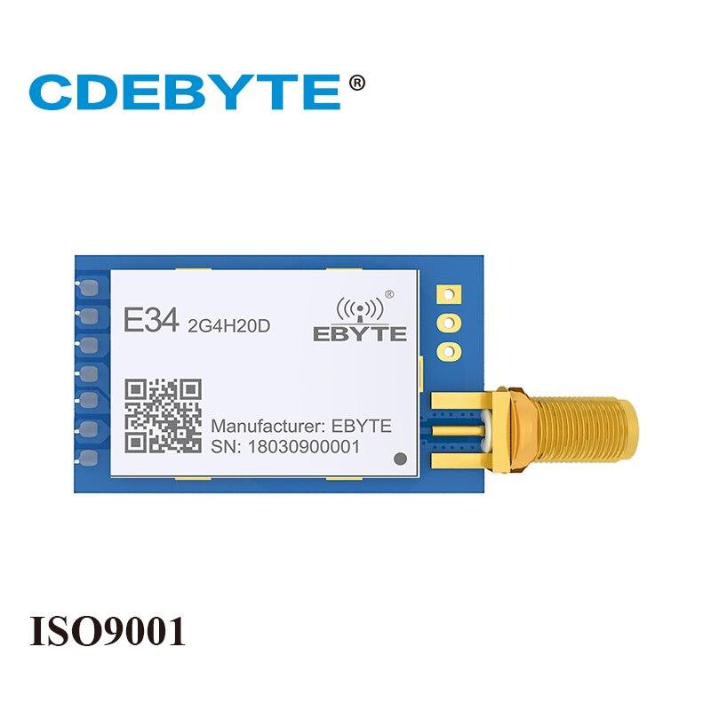 E34-2G4H20D salto de frecuencia UART nRF24L01P 2,4 GHz 100 MW antena SMA IoT transceptor Inalámbrico uhf nRF24L01 + PA 2,4g módulo rf