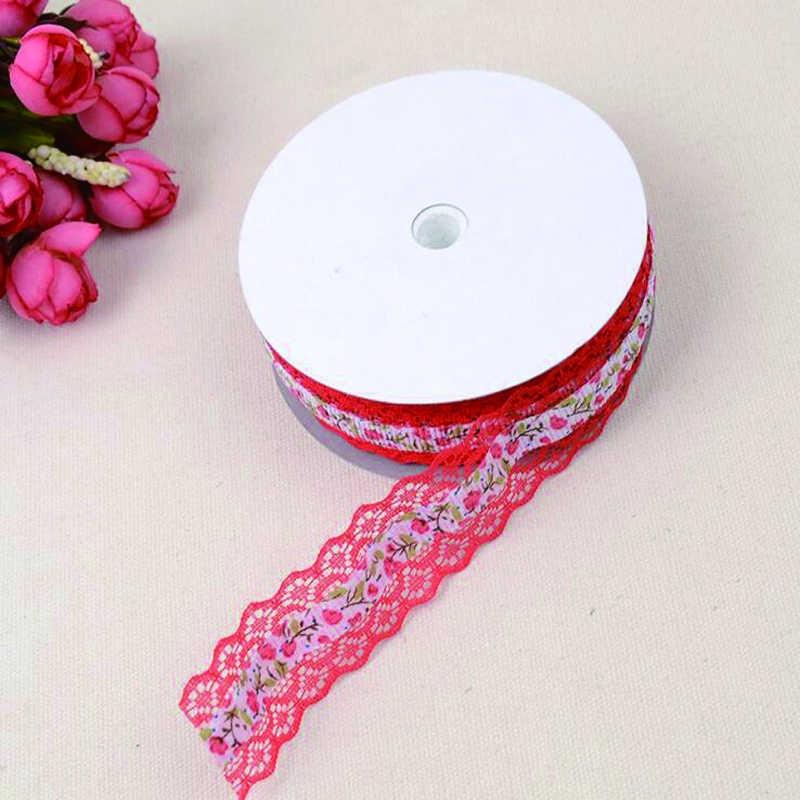 10 warna 2.5 cm Menyulam Renda DIY Aksesoris Renda Dekorasi Pakaian Natal Kerajinan Handicraf Hairpin DIY Pita
