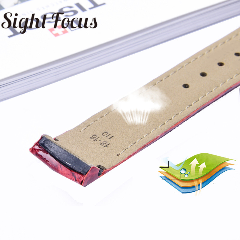Image 4 - 18mm Patent Leather Ladies Watch Strap for Tissot Watch Bands 1853 Woman Bracelets Clock Female Belts for Couturier T035210 207-in Watchbands from Watches