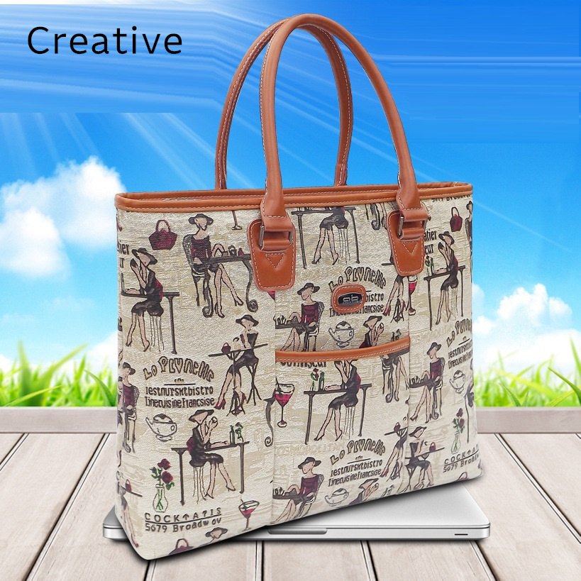 Hot Handbag For Laptop 14, For Macbook Air Pro 13.3, 13,14.1 Lady Notebook Bag,Women Messenger Purse,Free Drop Ship 0141S214 hot ladies handbag for laptop 14 for macbook air pro retina 13 3 13 14 1 notebook lady bag women purse free drop ships114