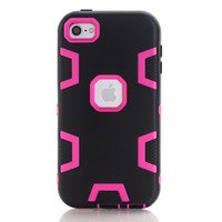 Couqe Combo Skin For Apple IPod Touch 6 Back Cover Double Color Cell Phone Cases Hard