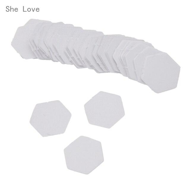 100 Stücke Hexagon Papier Quilt Vorlage Blume Handwerk 8/10/12/16/22 ...