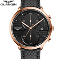 GUANQIN Спортивные Часы Повседневная Мода мужская Кварцевые Часы Корпус Из Нержавеющей Стали Япония Движение Роскошные Кварцевые мужские Часы