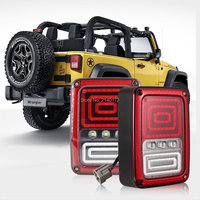 Black Plug and Play LED Tail Lights LED Lamps Brake Turn Signal for 07 16 Jeep Wrangler JK Daytime Running (USA Version)