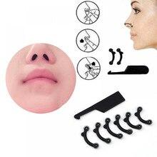 6 шт./компл. Красота поднятие носа мост Shaper Массажный инструмент не боль формирование носа клип машинка для стрижки Для женщин девочек массажер 3 Размеры