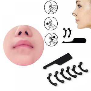 6Pcs/Set Beauty Nose Up Lifting Bridge Shaper Massage Tool No Pain Nose Shaping Clip Clipper Women Girl Massager 3 Size