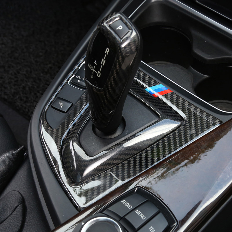 For BMW 3 4 Series 3GT F30 F31 F32 F34 Accessories Carbon Fiber Car styling Inner Center Console Gear Shift Box Panel Cover Trim for nissan r35 gtr carbon fiber door mirror inner panel trinagle