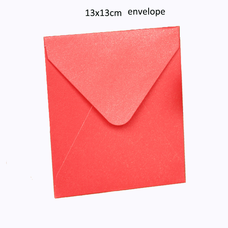 100pcs Size: 13cmx13cm PEARL PAPER Envelopes Square envelope card bank card membership card envelope for invitation card office