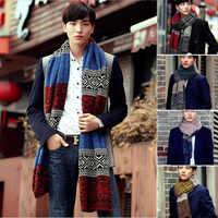 Inverno moda masculina casual xale envoltório silenciador cachecol sortido cor cachecóis quentes