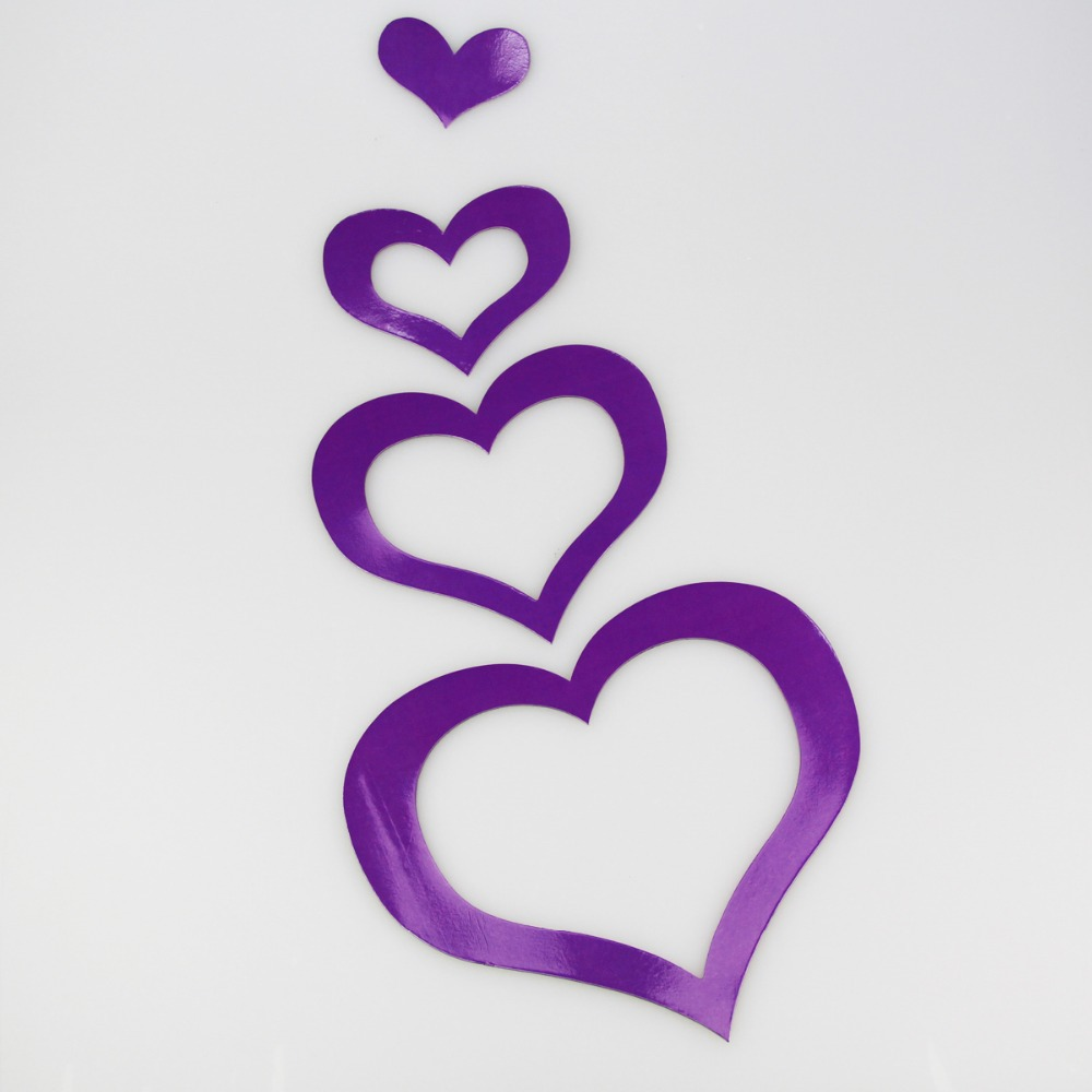 Cute Soft Magnetic Purple Colour Heart Photo Frame And