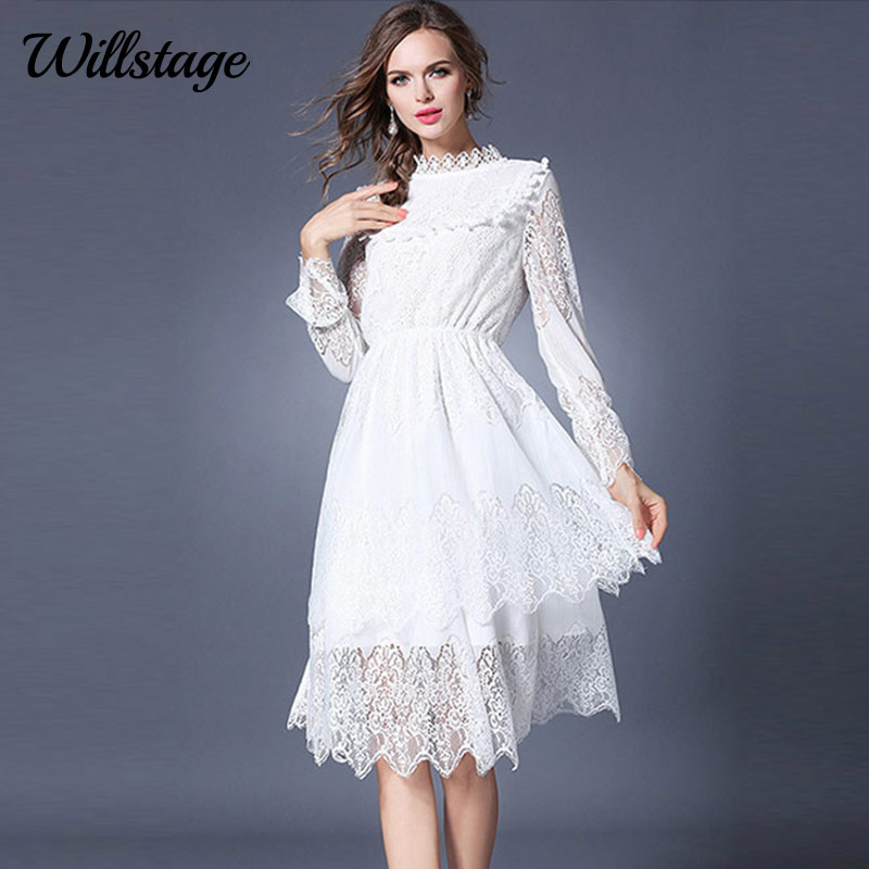 Aliexpress.com : Buy Willstage White Lace Dress Long