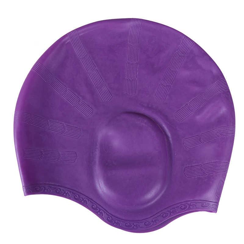 2019 Impermeabile Del Silicone Cappellini Proteggere Le Orecchie Capelli Lunghi Sport Swim Piscina Protezione Del Cappello di Nuoto Uomini e Donne Adulti