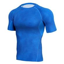 Fitness Compression Shirt Men 3D Print Short Sleeves T Shirt Men Rashguard MMA 2018 Workout Bodybuilding