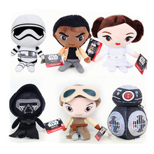 Star Wars 8 Kylo Ren Captain Phasma Rey Poe Dameron Finn Bb8 Plush Toys Bb-9E Doll For Kids Gifts&Birthday Brinquedos S207