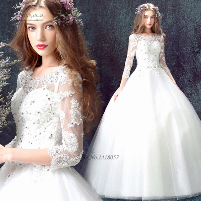 Plus Größe Vintage Boho Hochzeitskleid 2016 Korsett Zurück 3/4 Hülse ...