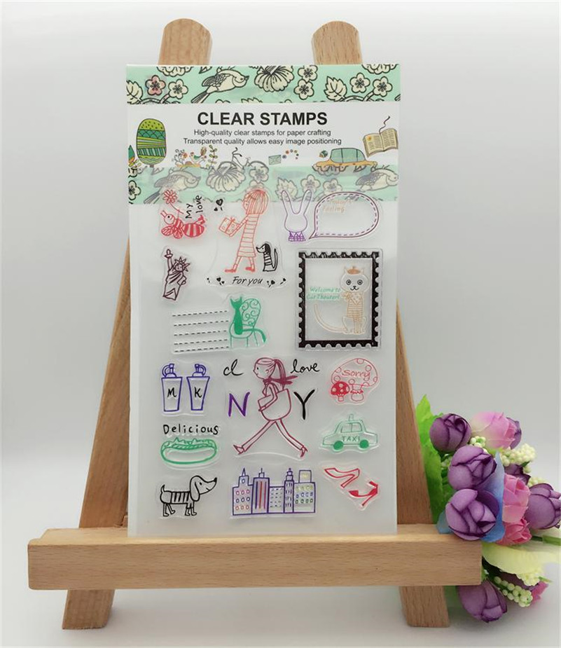 lovly girl DIY Calendar Transparent Clear Rubber Stamp Seal Paper Craft Scrapbooking Decor paper card YFS101 mantra бра dali 0097