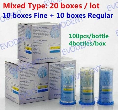 ange aile materiais dentarios descartaveis micro aplicadores micro escova 10 caixas regular 10 caixas de
