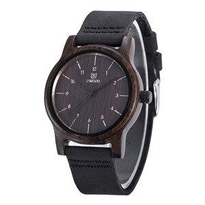 Image 3 - UWOOD Mens Wooden Quartz Wristwatch Minimalism Antique Retro Soft Leather Band Bracelet Husband Bangle Gift Mens Wood Watches