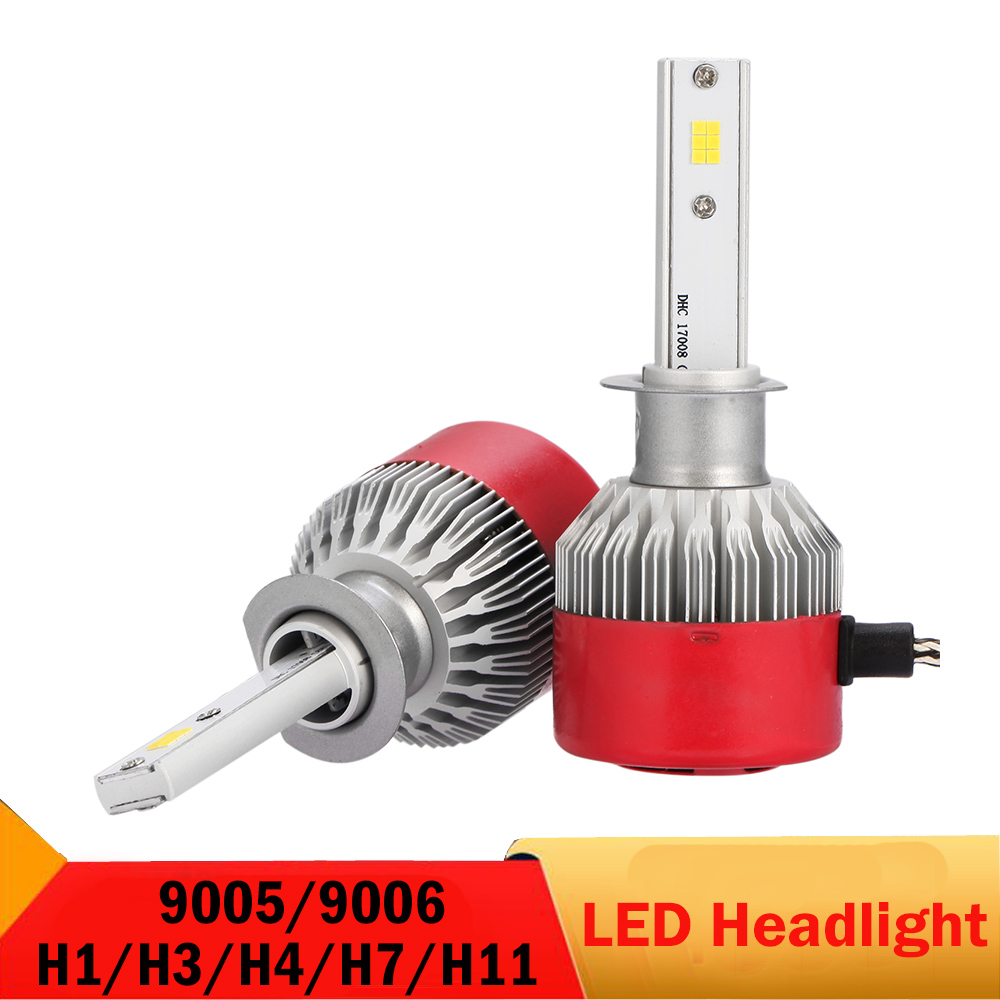 6500K 96W 9005 HB3 9006 HB4 H1 H3 H7 H11 Car Headlight 192W H4 9003 HB2 Hi/Lo Auto Driving Lamp DRL CSP chips 12V 24V For TOYOTA rcd330 plus mib ui radio for golf 5 6 jetta cc tiguan passat polo