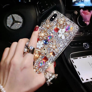 Image 3 - Fashion P20 Pro Diamond Soft TPU Crystal Rhinestone Glitter Phone Case For Huawei P30 Pro P30 P20 Lite Cover with Jewelry Strap