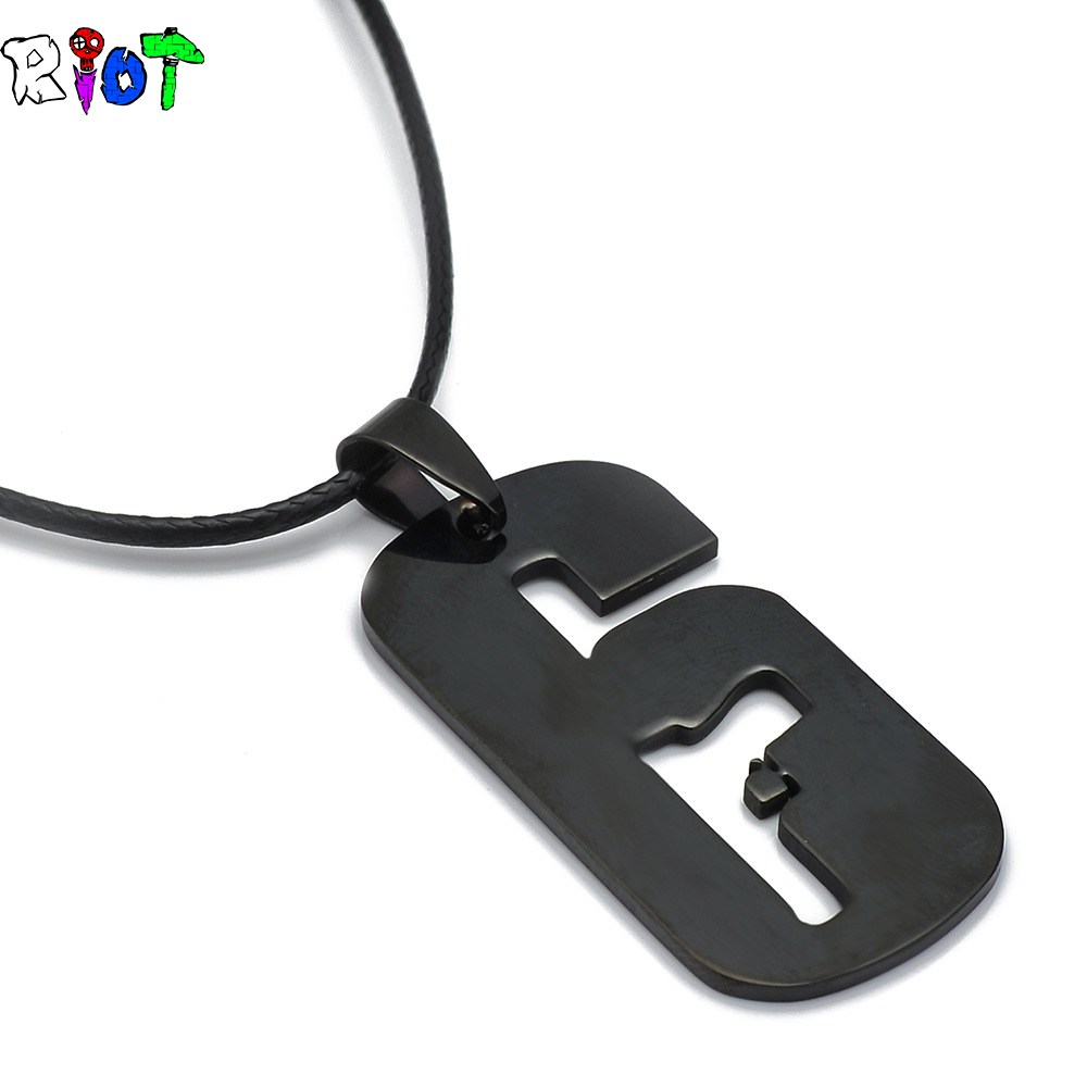 FPS Game Rainbow Six necklace stainless steel Pendant Siege Operators Leather Rope Chain Choker Jewelry Metal Movement Souvenirs
