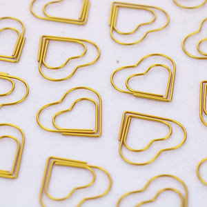 Image 5 - TUTU 30PCS/LOT high quality Paperclip Book Mark Bow Clip Accessories Bookmark Bookend Clip Metal Paper Clip Gold Paperclip H0030