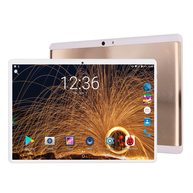 2.5D Glass Multi-touch Screen Android 9.0 OS 10 Inch Tablet Pc Octa Core 6GB RAM 64GB ROM 3G 4G FDD LTE 1280*800 IPS Tablets Pcs