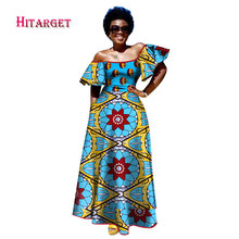 Hitarget 2017 African Dresses for Woman Print Splice Squar Collar Long Big Dashiki Traditional Clothing WY2336