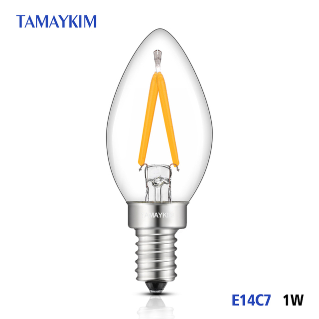 C7 Led Bulb >> Led Bulb E14 C7 Led Filament Light Lamps Mini Torpedo Shape 1w 220v