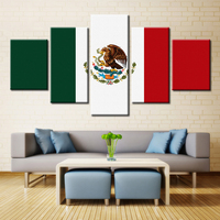 5 Panel Modern Home Art Wall HD Picture Canvas Printings Living Room Decoration Theme Flag The