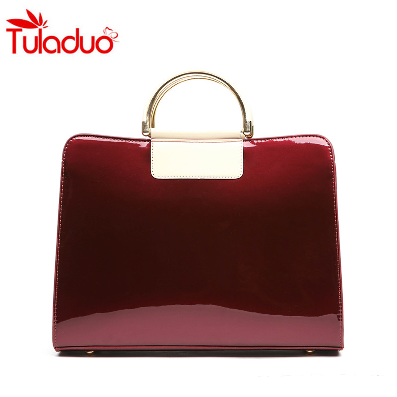 2017 Fashion Patent Leather Women Messenger Bags Ladies Luxury Handbags Women Shoulder Bag Messenger Mummy Bags Sac A Main Totes threepeas women genuine leather bag luxury handbags women bags ladies messenger bags brand trapeze bag leather bolsa sac a main