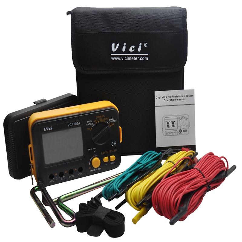 LCD Digital Earth Resistance Tester Ground Resistance Voltage Meter Lightning Rod font b Measuring b font