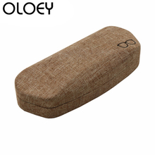 OLOEY 2018 Linen Sunglasses Glasses Case Men Women Hard Protection Box Student Myopia Optical Accessories