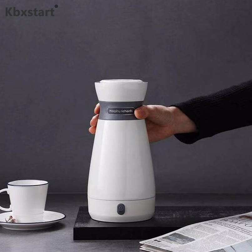 Kbxstart Portable Mini Electric Kettle Travel Thermal Insulation Teapot 316 Stainless steel Boiling Cup Heating Cup 110-220V