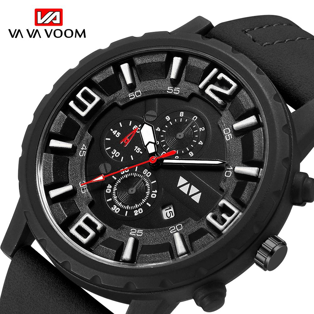Sports Waterproof Watch Men 2019 New Mens Watches Top Brand Luxury Quartz Watch Casual Leather Military Clock Relogio Masculino