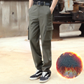 Men 2016 Casual Brand Cargo Pants Autumn Winter Thick Loose Trousers Hombre High Quality Army Style Length Pant Plus Size 30-42