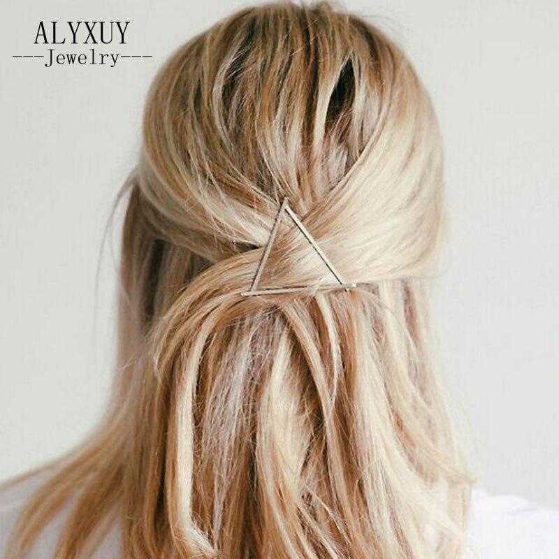 just do my best Новая мода Hairwear цвет золотистый Треугольники подарок для женщины девушка H360