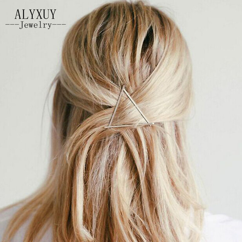 just do my best New fashion hairwear gold color Triangle gift for women girl H360