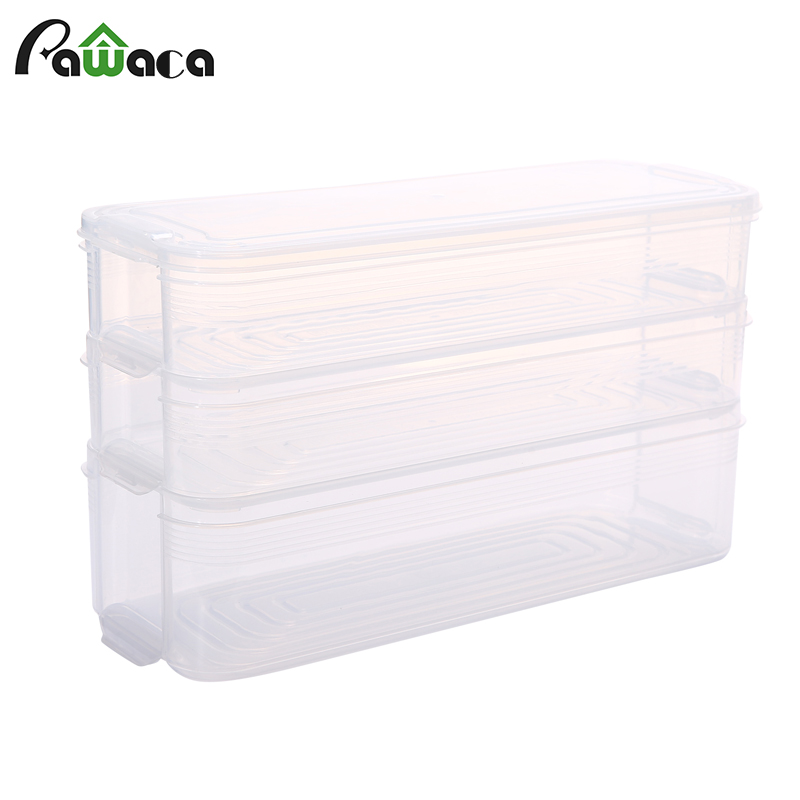 Kitchen Refrigerator Noodle Box Plastic Cover Food Storage Container Sealed  Crisper Preservation Box Kitchen Supplies